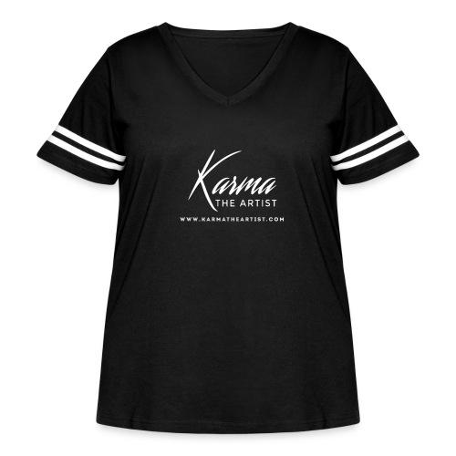 Karma - Women's Curvy Vintage Sport T-Shirt