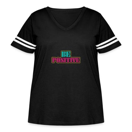 BE positive - Women's Curvy Vintage Sports T-Shirt