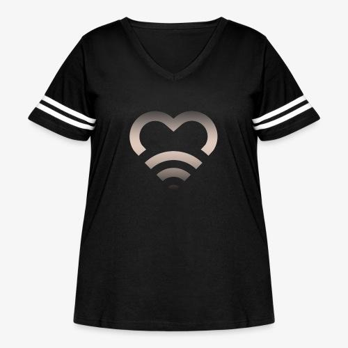 I Heart Wifi IPhone Case - Women's Curvy Vintage Sport T-Shirt