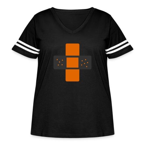 bloggingaid-icon - Women's Curvy Vintage Sport T-Shirt
