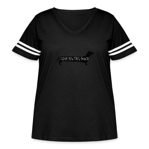 Dachshund Love - Women's Curvy Vintage Sport T-Shirt