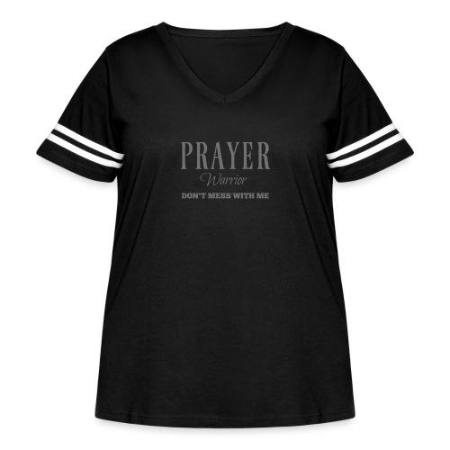 Prayer Warrior - Women's Curvy Vintage Sport T-Shirt