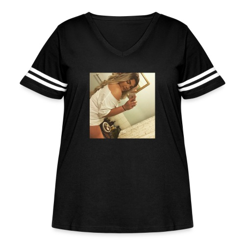 B.HARDY SHY SELFIE - Women's Curvy Vintage Sport T-Shirt