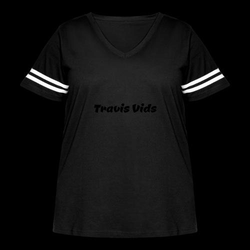White shirt - Women's Curvy Vintage Sport T-Shirt