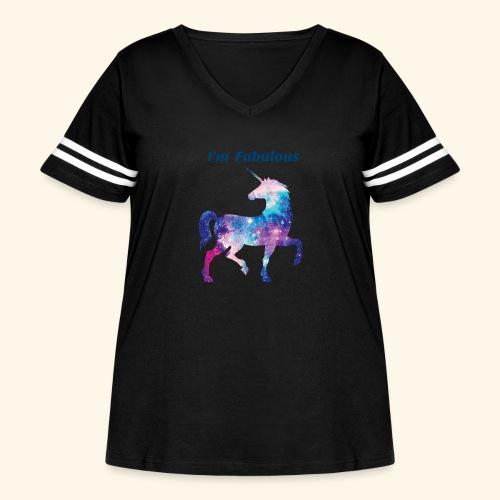 I'm Fabulous Unicorn - Women's Curvy Vintage Sport T-Shirt