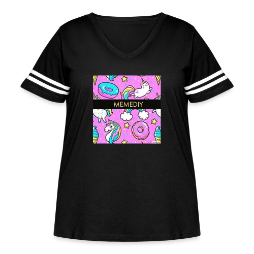 MemeDiy - Women's Curvy Vintage Sport T-Shirt