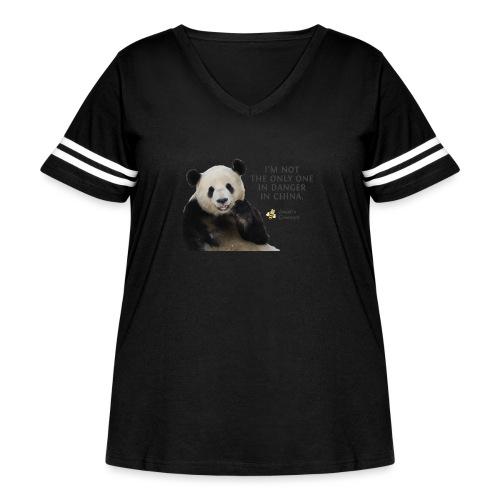 Endangered Pandas - Women's Curvy Vintage Sport T-Shirt
