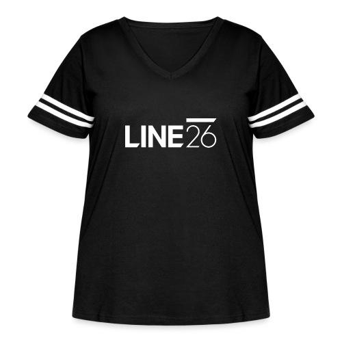 Line26 Logo (Light Version) - Women's Curvy Vintage Sport T-Shirt