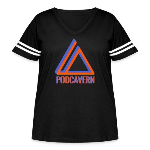 PodCavern Logo - Women's Curvy Vintage Sport T-Shirt