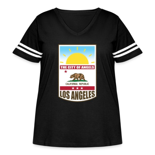 Los Angeles - California Republic - Women's Curvy Vintage Sport T-Shirt