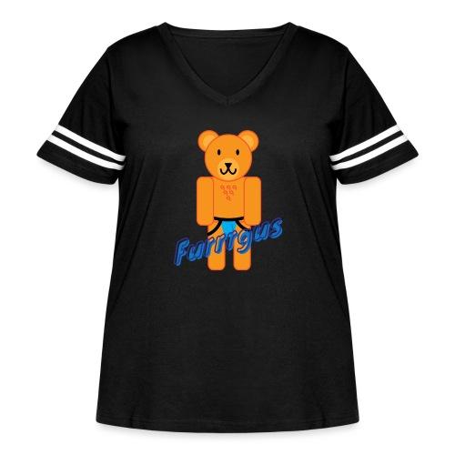 Furrrgus @ Underbear - Women's Curvy Vintage Sport T-Shirt