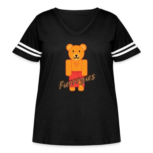 Presidential Suite Furrrgus - Women's Curvy Vintage Sport T-Shirt