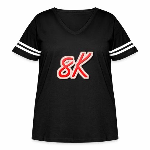8K - Women's Curvy Vintage Sport T-Shirt