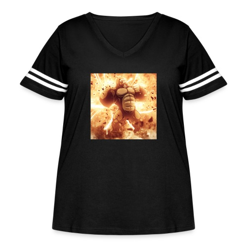 Angry Gorilla Explosion - Women's Curvy Vintage Sports T-Shirt