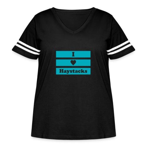 Haystacks Blue - Women's Curvy Vintage Sport T-Shirt