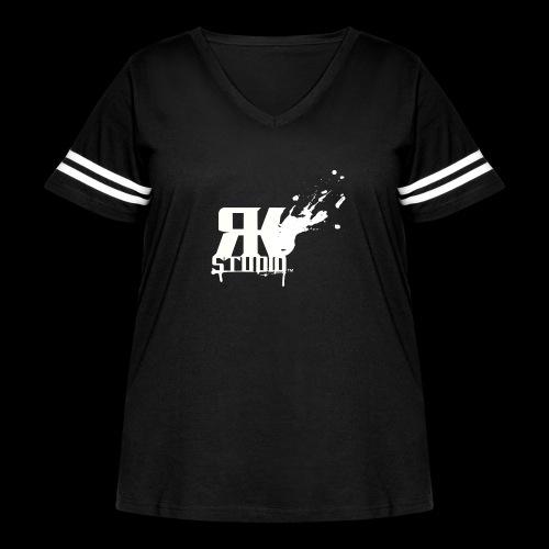 RKStudio White Logo Version - Women's Curvy Vintage Sport T-Shirt
