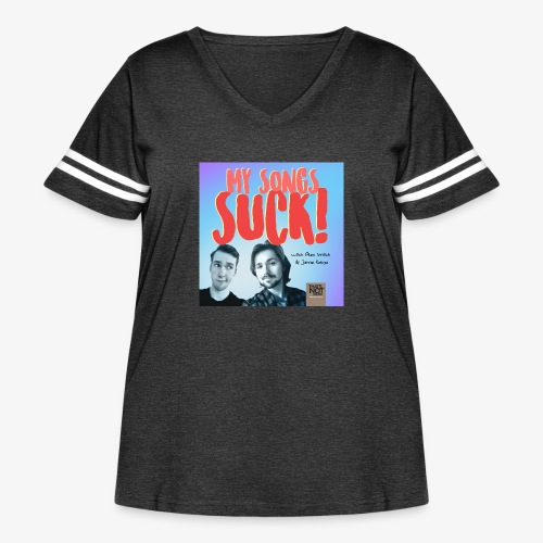 My Songs Suck Cover - Women's Curvy Vintage Sport T-Shirt