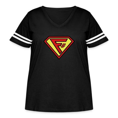 F# Hero Woman - Women's Curvy Vintage Sport T-Shirt