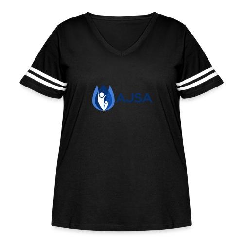 AJSA Bleu - Women's Curvy Vintage Sport T-Shirt