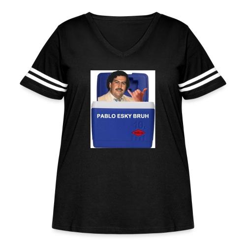 Pablo Esky Bruh - Women's Curvy Vintage Sport T-Shirt