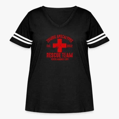 Zombie Rescue Halloween Shirt - Women's Curvy Vintage Sport T-Shirt
