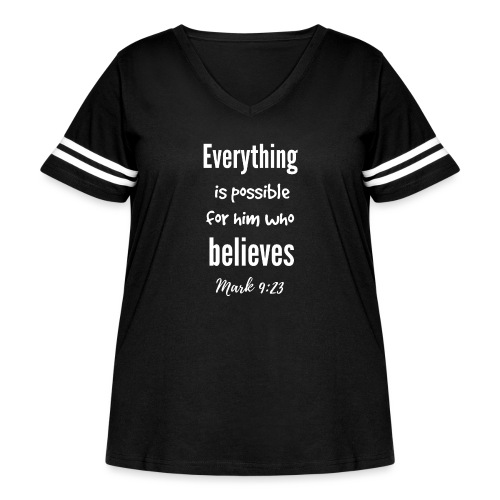 Everything is Possible - Women's Curvy Vintage Sport T-Shirt