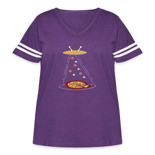 Pizza Funny Ovni - Women's Curvy Vintage Sport T-Shirt
