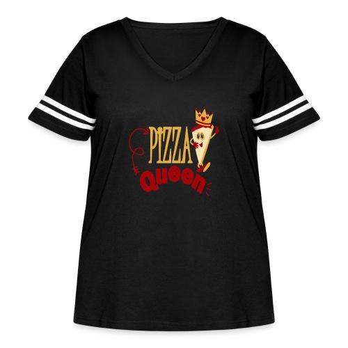Pizza Queen - Women's Curvy Vintage Sport T-Shirt