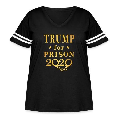 Trump for Prison 2020 Gold - Women's Curvy Vintage Sport T-Shirt