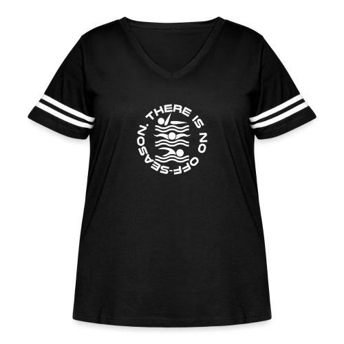 There is no Swim off-season logo - Women's Curvy Vintage Sport T-Shirt