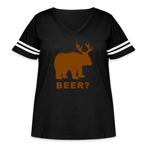 Macs Bear - Women's Curvy Vintage Sport T-Shirt