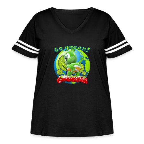 Gummibär Go Green Earth Day Earth - Women's Curvy Vintage Sport T-Shirt