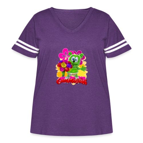Gummibär Flowers - Women's Curvy Vintage Sport T-Shirt