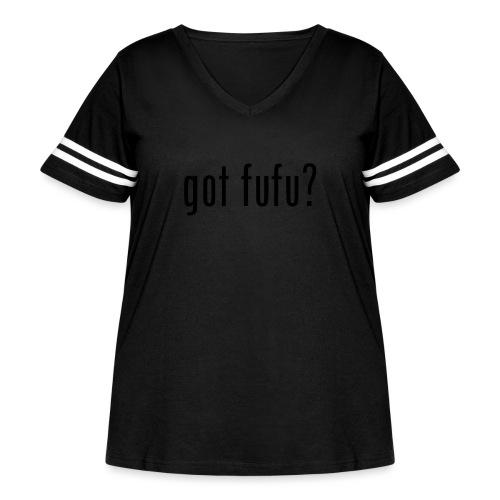 gotfufu-white - Women's Curvy Vintage Sports T-Shirt