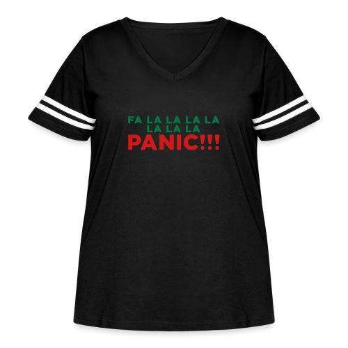 Anxiety Christmas - Women's Curvy Vintage Sport T-Shirt