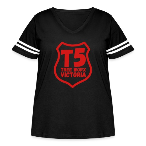 T5 tree worx shield - Women's Curvy Vintage Sport T-Shirt