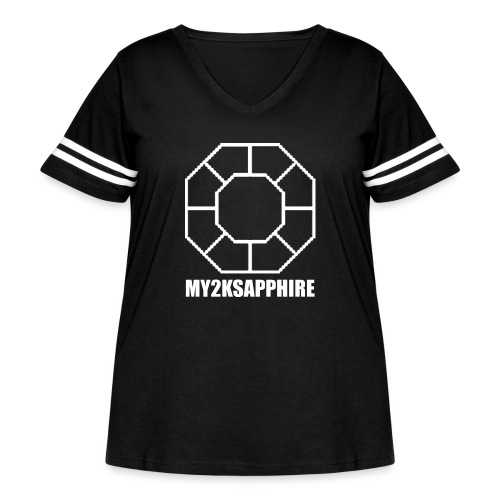 Unisex White Sapphire Hoodie - Women's Curvy Vintage Sport T-Shirt