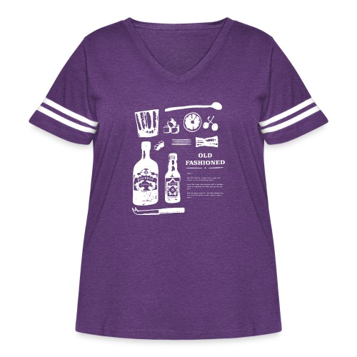 Old Fashioned - Women's Curvy Vintage Sport T-Shirt