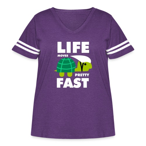 Life moves pretty fast - Women's Curvy Vintage Sport T-Shirt