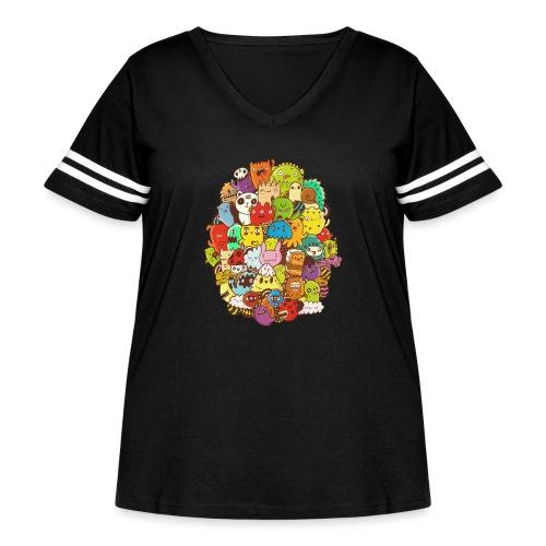 Doodle for a poodle - Women's Curvy Vintage Sport T-Shirt