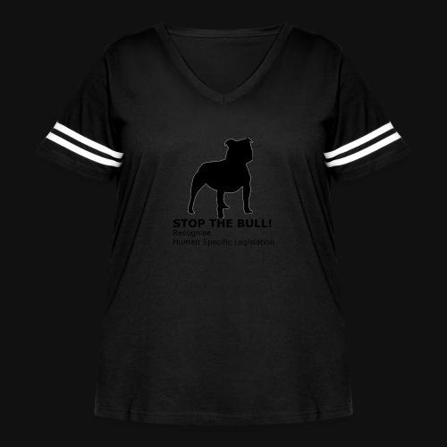 Stop The Bull - Women's Curvy Vintage Sport T-Shirt