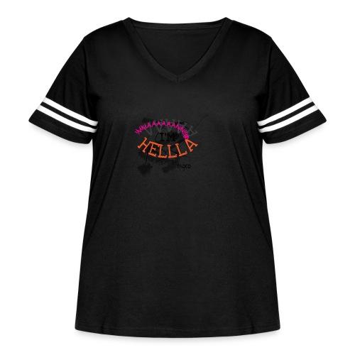 DUMBSHIT - Women's Curvy Vintage Sport T-Shirt