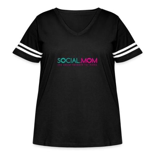 Social.mom Logo English - Women's Curvy Vintage Sport T-Shirt