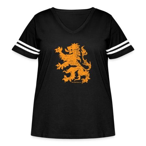 Dutch Lion - Women's Curvy Vintage Sport T-Shirt