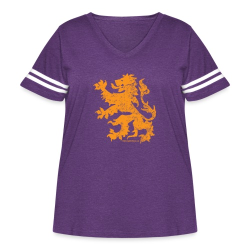 Dutch Lion - Women's Curvy Vintage Sport T-Shirt