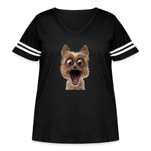 Dog puppy pet surprise pet - Women's Curvy Vintage Sport T-Shirt