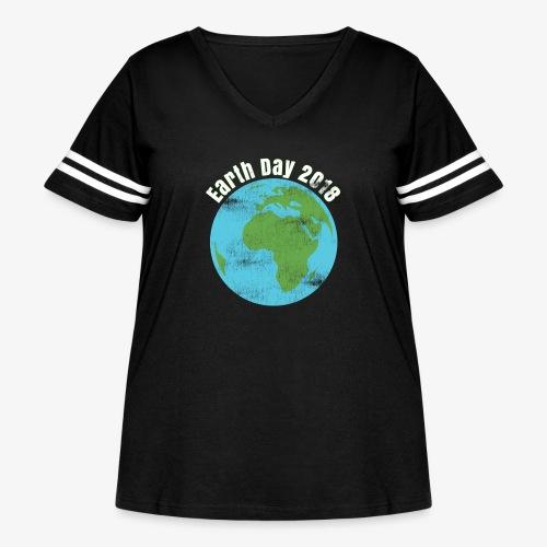 Happy Earth Day 2018 T-shirt - Women's Curvy Vintage Sport T-Shirt