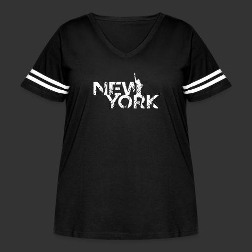 New York (Flexi Print) - Women's Curvy Vintage Sport T-Shirt
