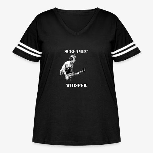 Screamin' Whisper Filth Design - Women's Curvy Vintage Sport T-Shirt