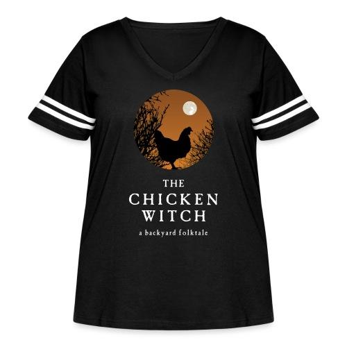 backyard folktale orange - Women's Curvy Vintage Sport T-Shirt